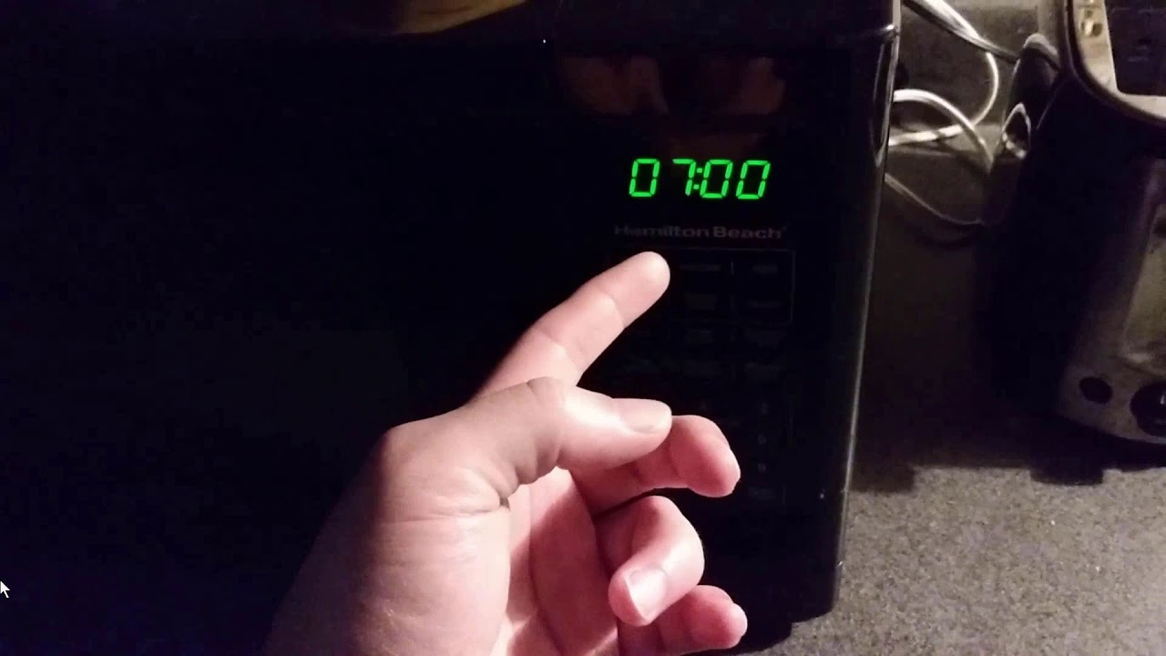 how to set clock on hamilton beach