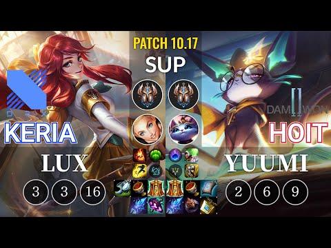 DRX Keria Lux vs DWG Hoit Yuumi Sup - KR Patch 10.17