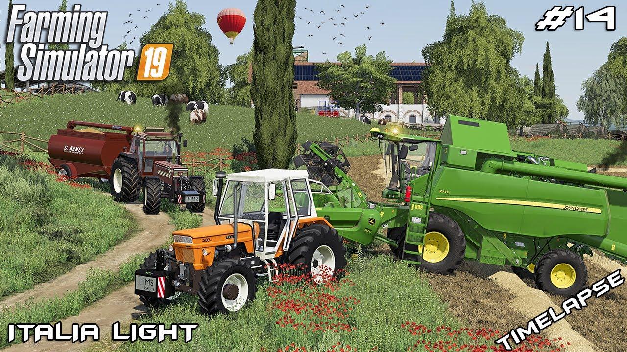Harvesting with NEW John Deer HARVESTER   Animals on Italia   Farming Simulator 19   Episode 14