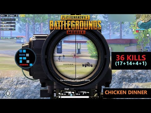 """[Hindi] PUBG MOBILE   """"36 KILLS"""" FUN GAME PLAY CHICKEN DINNER OLD FOOTAGE FOUND"""
