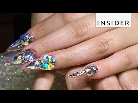 This Nail Artist is the Queen of Bling