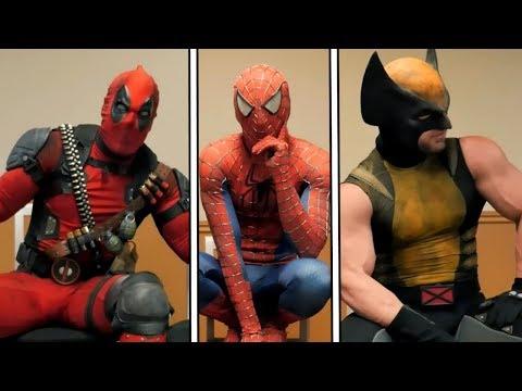 SALA DE ESPERA 5 - DUBLADO | Deadpool, Homem-Aranha e Wolverine (The Waiting Room Episode 5)