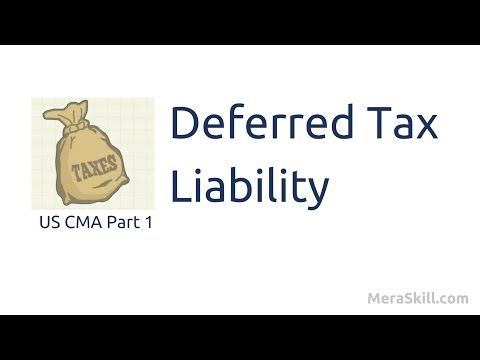 Deferred Tax Liability | Financial Reporting Decisions| US CMA Part 1 | US CMA course | US CMA Exam