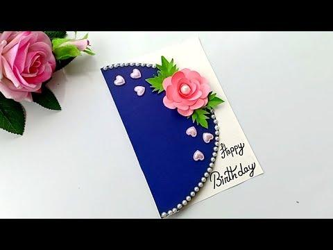 Beautiful Handmade Birthday card//Birthday card idea.
