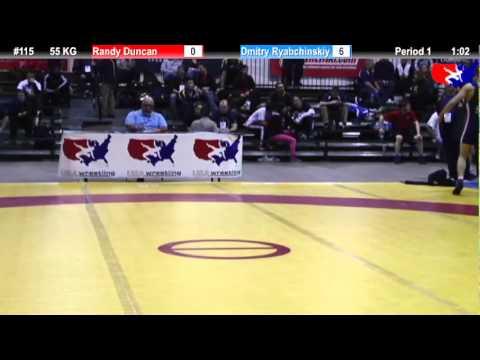 2011 U.S. Open FRI GR 55 KG: Randy Duncan vs. Dmitry Ryabchinskiy Cons. Round 1
