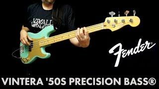 Fender Vintera Precision '50s bass demo