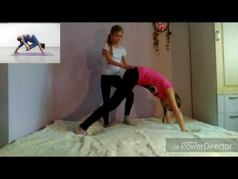 Йога-челлендж для двоих. Повторяем акробатические фигуры по фото из интернета
