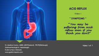 ACID REFLUX - Symptoms