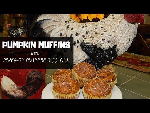 Fall Recipe | Pumpkin Muffins With Cream Cheese Filling