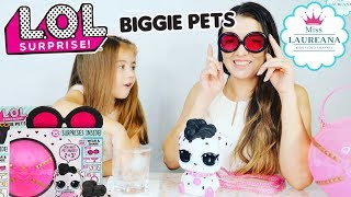 LOL SURPRISE BIGGIE PETS EYE SPY SERIES Unboxing | Miss Laureana