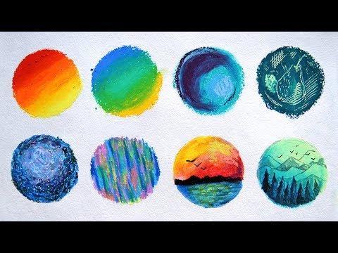 Видеоурок рисование масляной пастелью