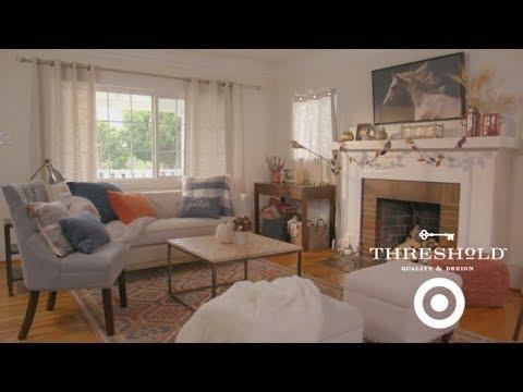 Family Living Room Makeover I Targetu0027s Threshold Line For Home Part 66