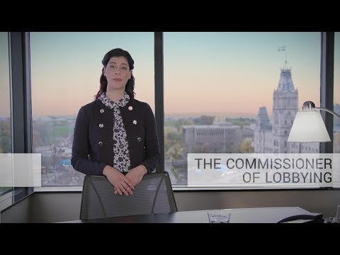 The Commissioner of Lobbying's role