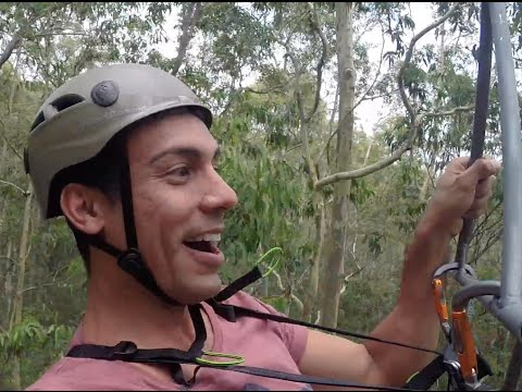 The World's Longest Rollercoaster Zip Line. Tree Top Crazy Rider Xtreme, Ourimbah State Forest