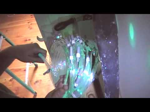 Fiber Optic Star Ceiling Installation