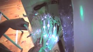 Fiber Optic Star Ceiling Installation Video in Drywall for Children