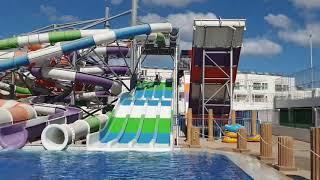Кипр в конце октября 2020 Айа Напа АКВАПАРК в отеле Арина катается с горок в аквапарке с ГоуПро