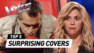 Video The Voice | SURPRISING COVERS in The Blind Auditions [PART 2] download MP3, 3GP, MP4, WEBM, AVI, FLV Juli 2018