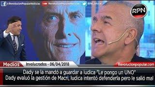 Dady aplastó a Iudica mientras discutían sobre Macri y el Papa