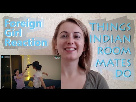 Things Indian Roommates Do | Ukrainian Model Reaction