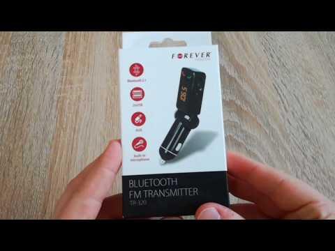 W Ultra Transmiter FM Bluetooth Forever BT do telefonu prezentacja CC35