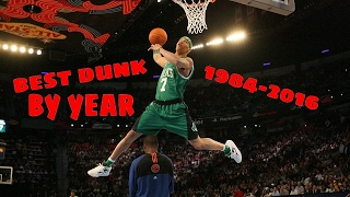 Repeat youtube video NBA Best Dunk Contest Dunk By Year (1984-2016)