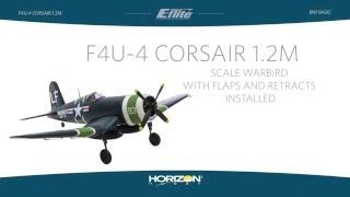 Vidéo: F4U-4 CORSAIR 1.2M BNF BASIC - E-FLITE - EFL8550