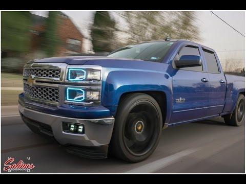 Dallas Dropped trucks! 2014 Chevy Silverado with custom ...