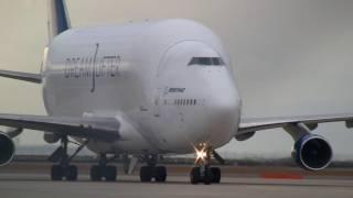Boeing 747 LCF Dreamlifter N780BA Landing at Nagoya