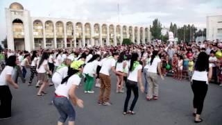 Флэшмоб Орифлэйм в Бишкеке.