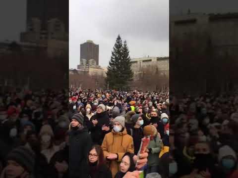 Novosibirsk today #freedomNavalny