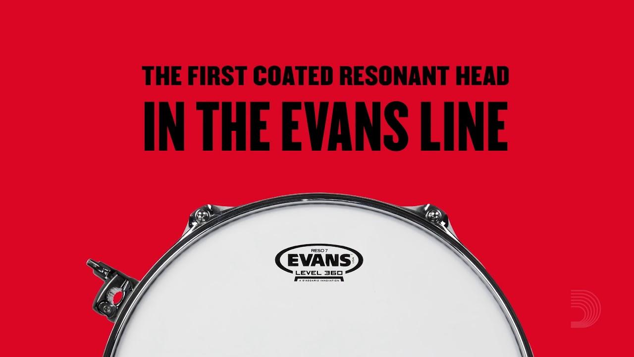 evans reso 7 series coated 7mil resonant drumheads youtube. Black Bedroom Furniture Sets. Home Design Ideas