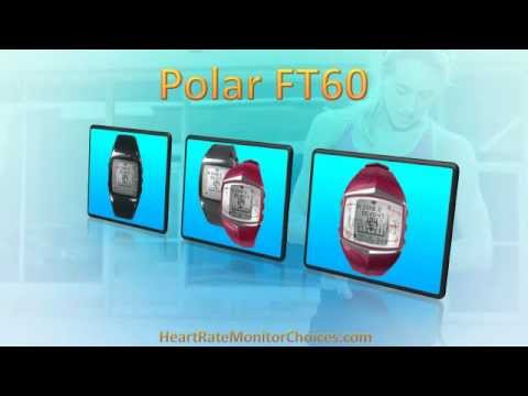 Polar FT60 Heart Rate Monitor Watch: http://heartratemonitorchoices.com/see/polarft60  The Polar FT60 is a feature packed heart rate monitor watch from a Finnish manufacturer with a long history and excellent reputation for producing some of the world's best training watches.  The FT60 is a very stylish training watch which comes in both models for men and women and its relatively small size and attractive appearance comes in part from the fact that Polar have housed this watch's GPS unit in a separate G1 GPS sensor pod which can be worn unobtrusively on your arm or waist belt.  Like other Polar models this watch is designed to help you to lose weight and to improve your cardiovascular fitness but the FT60 takes training to a new level by offering personalized workouts which can be adjusted to meet your specific workout habits and training goals. For example, the FT60 gives you weekly targets which are based on your goals and then tracks how well you do each week.  This watch displays a wealth of information but, in particular, can display heart rate data in a variety of different ways including as simple beats per minute, as a percentage of your maximum heart rate and graphically within a target zone indicator. What's more the ZonePointer program provides an audible alarm to tell you when your heart rate falls below or rises above the values set for your target zone.  Other features include Polar's OwnCal mode which displays your energy expenditure during an exercise session, together with the accumulated kilocalories burned during several exercise sessions. Alongside this you can also set weekly targets for your calorie expenditure.  Polar's OwnZone mode also allows you to customize your target zone for an individual exercise session should you have a very specific training goal in mind for that session. You can also make use of the watch's ZoneLock mode to activate a particular target zone in the middle of a training session with just the press of a button.  But 