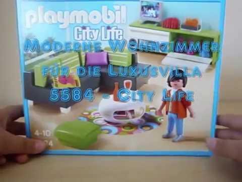 Playmobil-modernes Wohnzimmer für die Luxusvilla auspacken 5584 ...