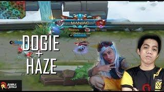 DOGIE AND HAZE VS ARK ANGEL - MOBILE LEGENDS - 1000 DIAMONDS GIVEAWAY - GAMEPLAY - RANK