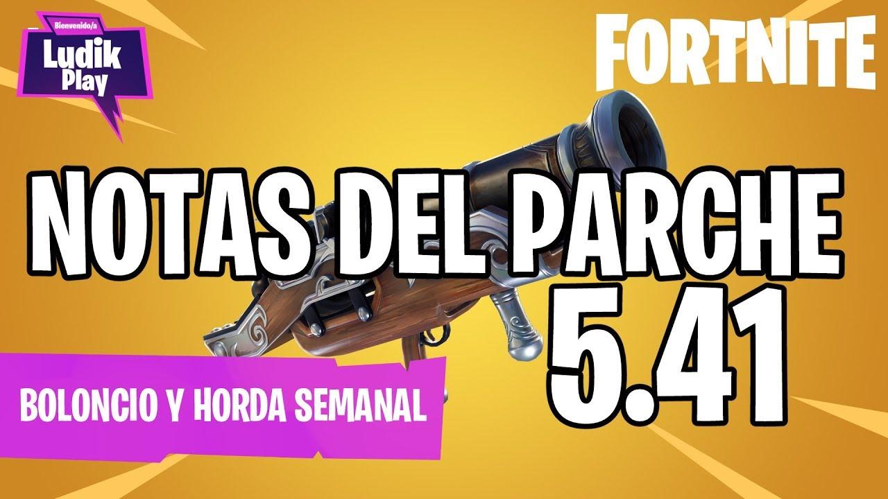 NOTAS DEL PARCHE 5.41: AGUDEZA VISUAL YA FUNCIONA! | FORTNITE SALVAR EL MUNDO | GUÍA español