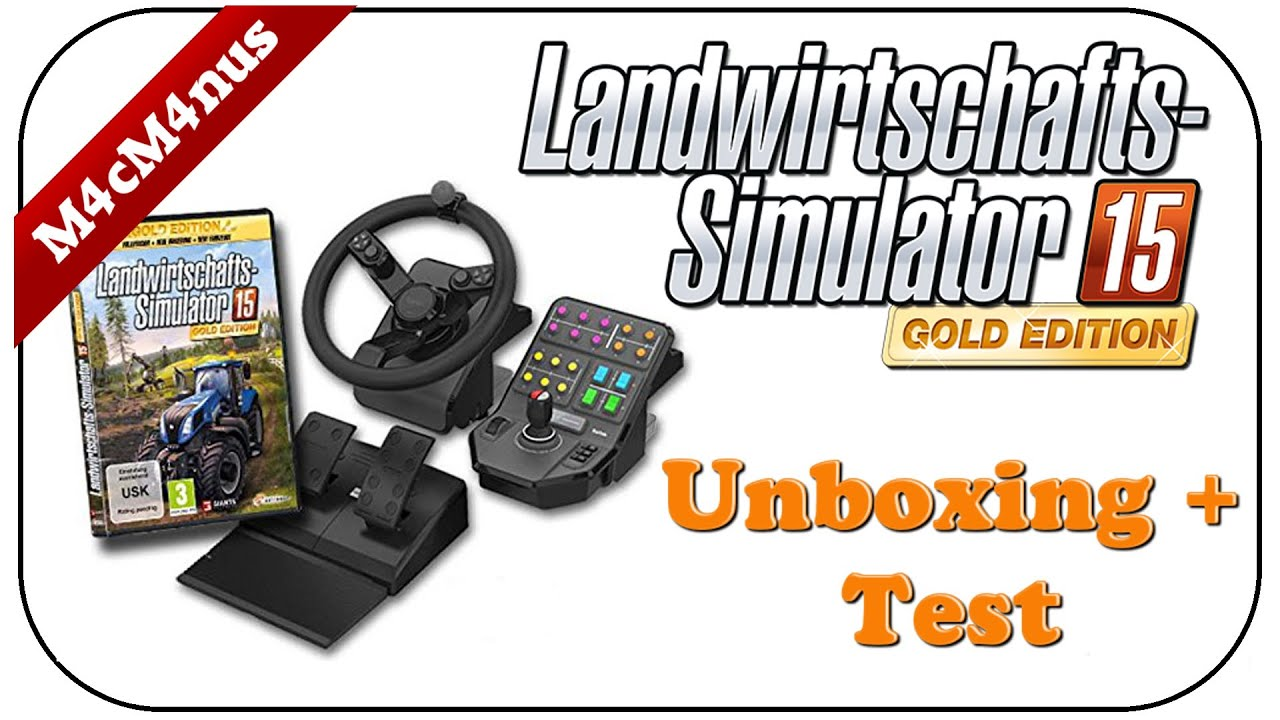 Saitek Ls15 Lenkrad Unboxing Test Landwirtschaft Simulator 15