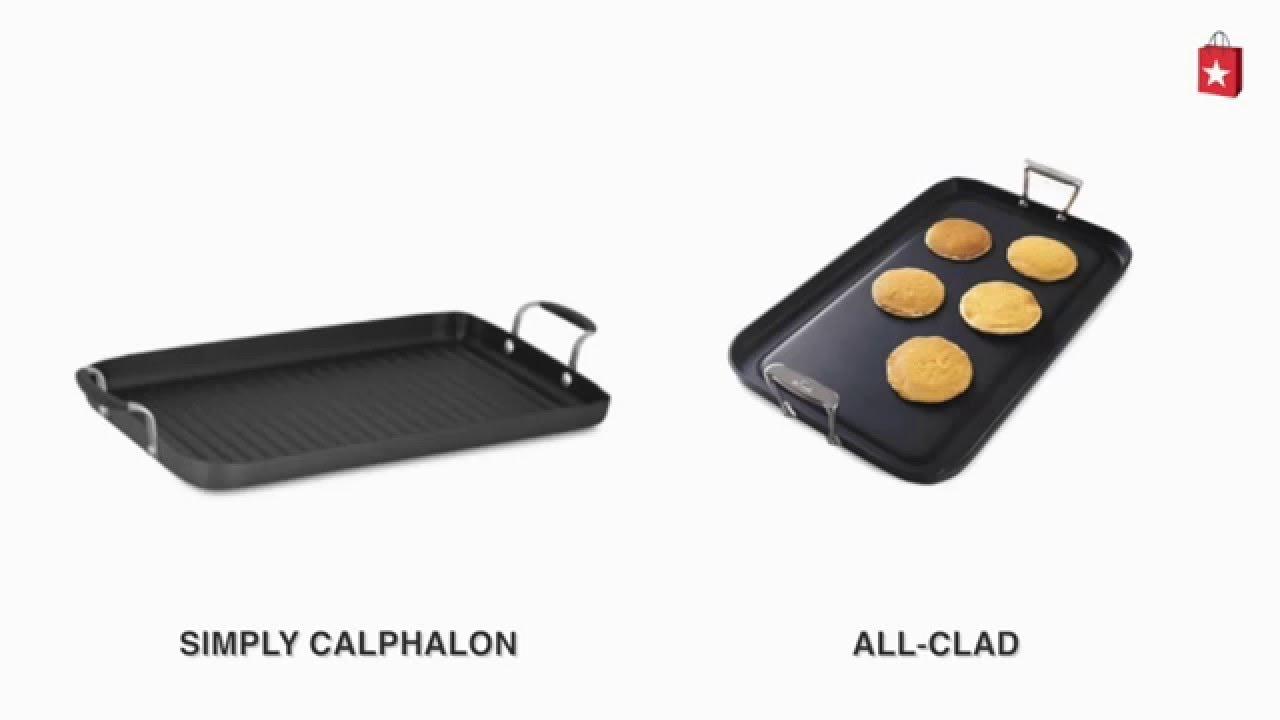 Simply Calphalon Nonstick Double Grill Pan Comparison Video