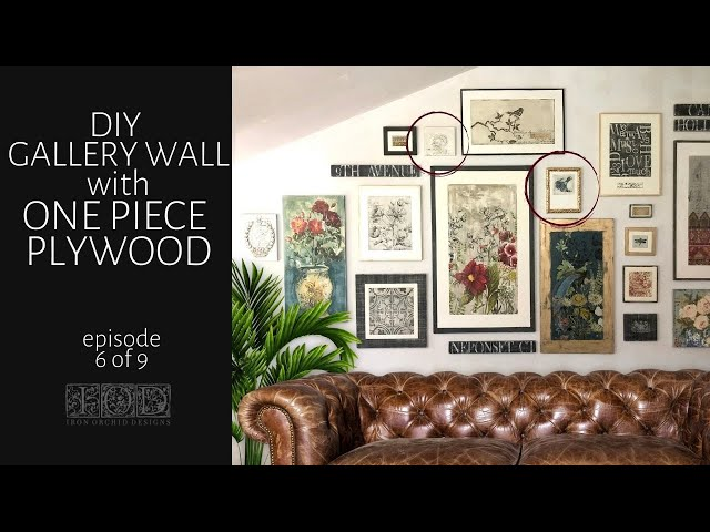 IOD Gallery Wall Episode 6 using IOD Moulds and IOD Stamps!