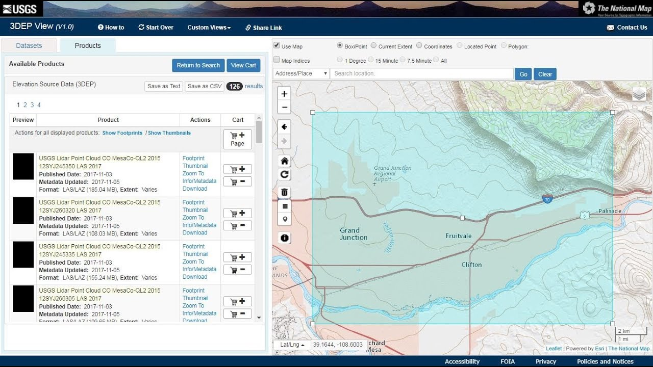 How to download data from the National Map with Lidar Focus