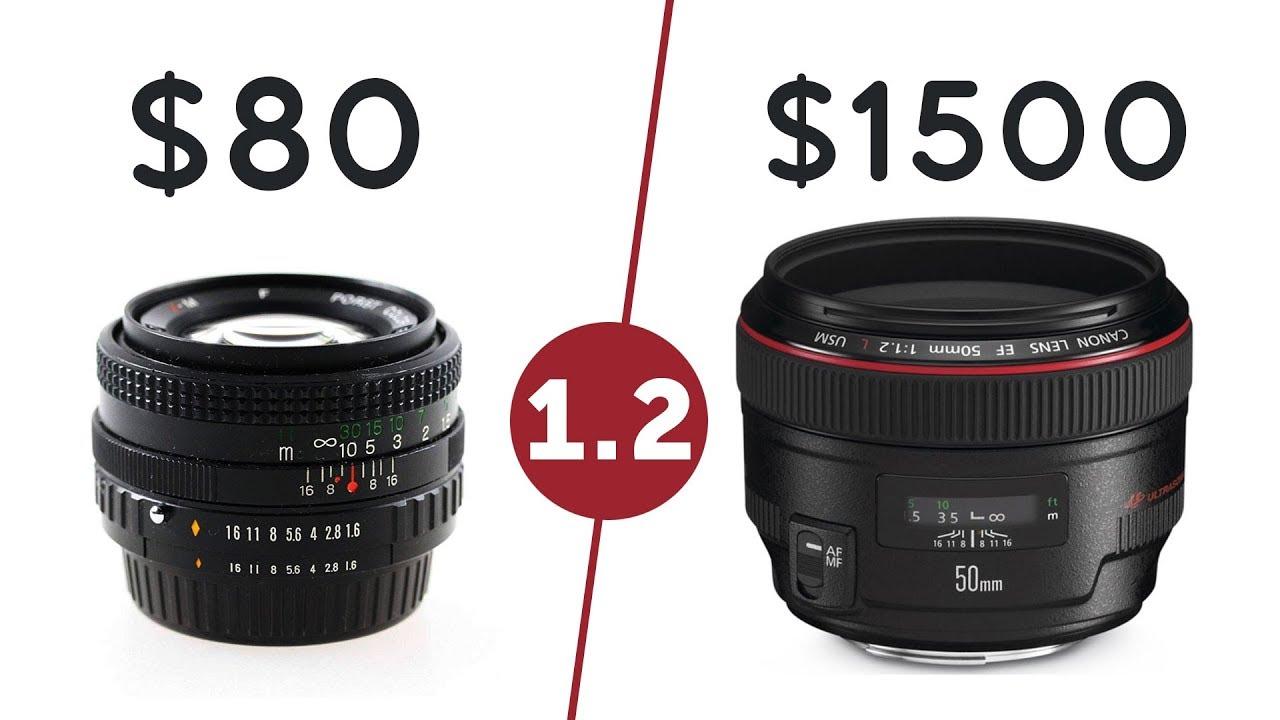 $80 F1 2 Lens 𝗩𝗦 $1500 Lens