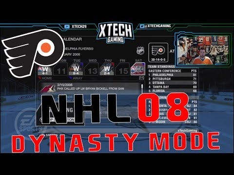 NHL 2008 DYNASTY MODE l One Year Philadelphia Flyers Sim