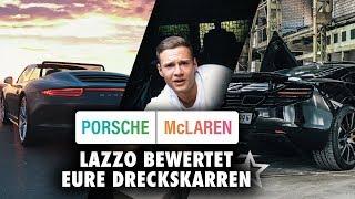Porsche oder McLaren | Lazzo bewertet eure Dreckskarren