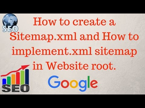 How to create a sitemap for website | How to implement xml sitemap[Hindi]