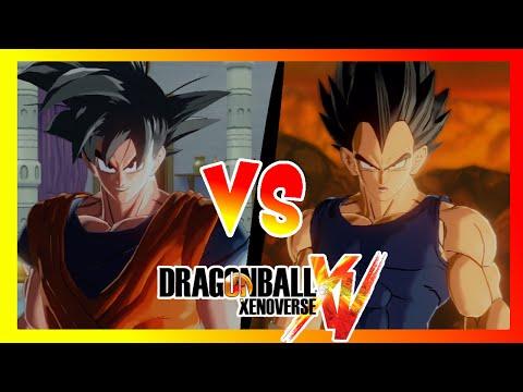 Dragon Ball Xenoverse : Goku VS Vegeta Con Aureola - Votad Batallas En Los Comentarios