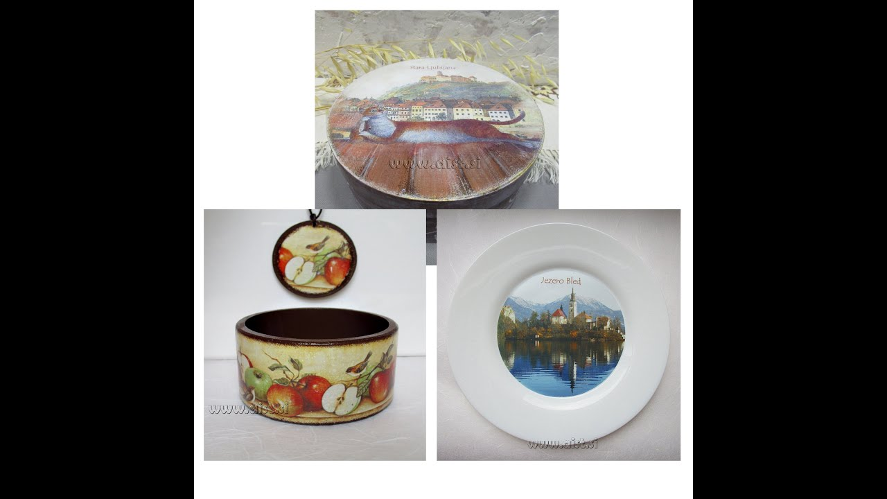how to transfer photo and images to glass ceramics wood objects