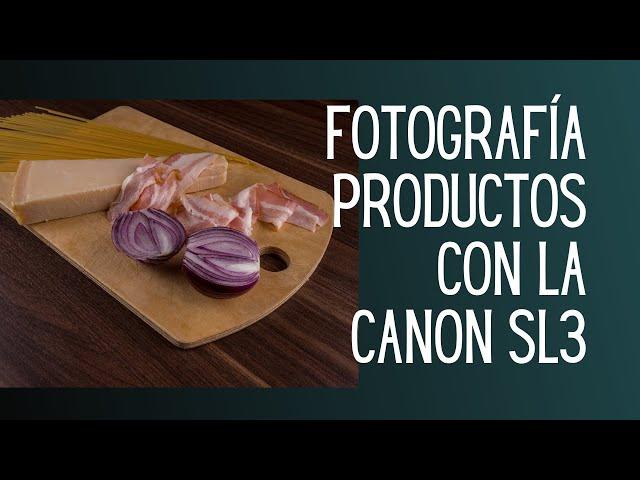 Cuál parámetro utilizo  para tomar fotos de catálogo de productos con la Canon EOS Rebel SL3