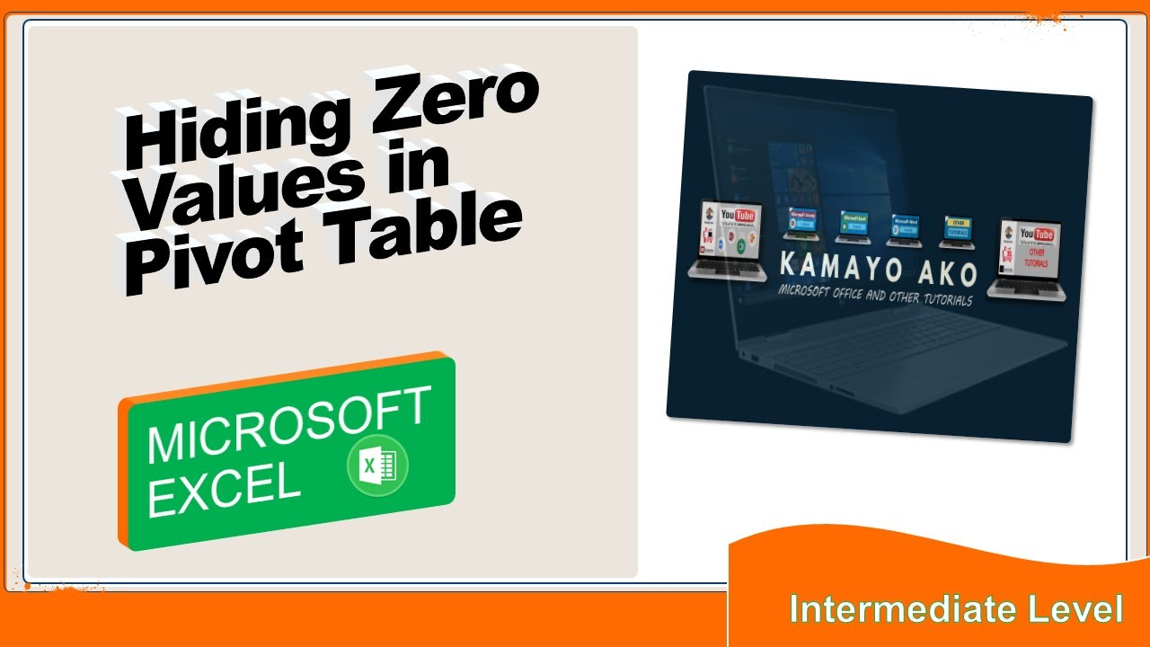 Hiding zero values in pivot table youtube hiding zero values in pivot table ccuart Image collections