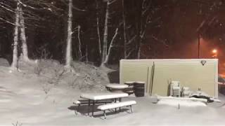 Raritan bound multilevel train passing by in the snow!! 3/21/18