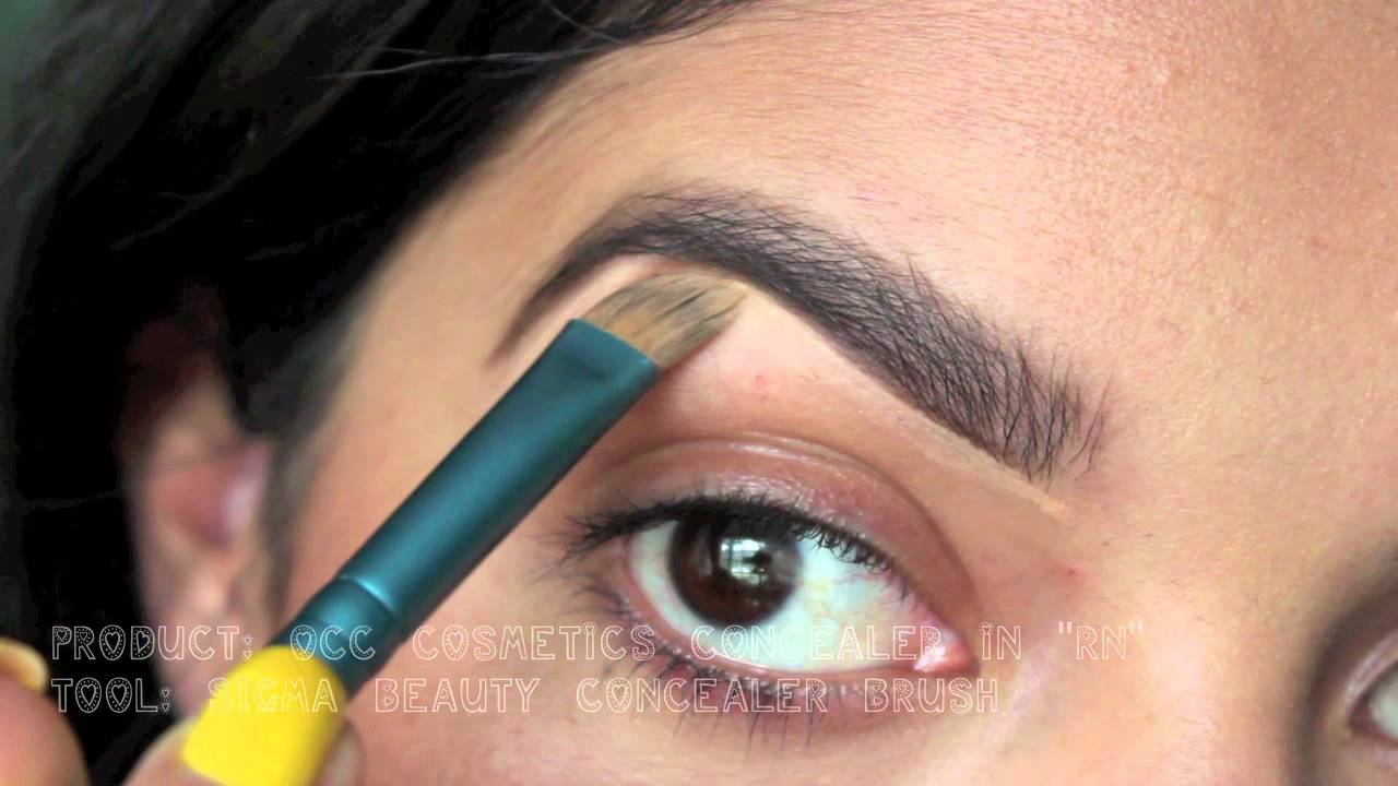 how to draw on missing eyebrows